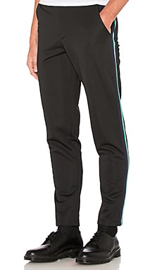 McQ Alexander McQueen Tape Tux Trouser in Darkest Black