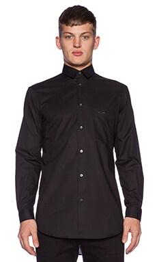 McQ Alexander McQueen Long Pocket Shirt in Darkest Black