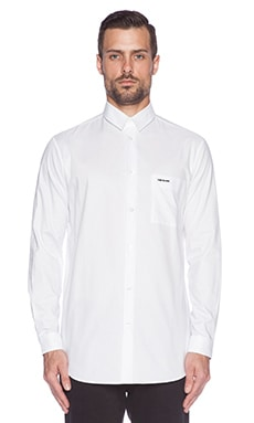 McQ Alexander McQueen Long Pocket Shirt in Optic White