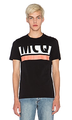 McQ Alexander McQueen Crew Tee in Darkest Black