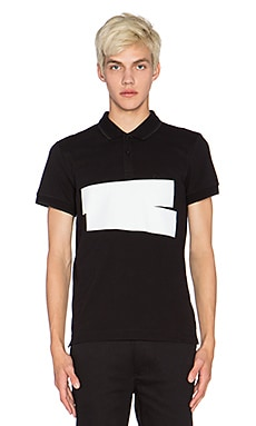 McQ Alexander McQueen McQ Polo in Darkest Black