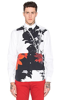McQ Alexander McQueen Shields 07 Button Up in Optic White