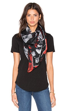 McQ Alexander McQueen Mcq All Over Rose Scarf in Red