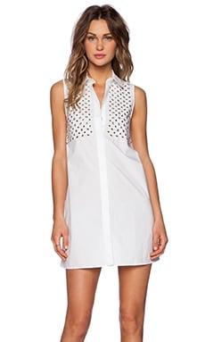 McQ Alexander McQueen Stud Dress in Optic White