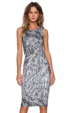 McQ Alexander McQueen Long Tank Dress in Silver