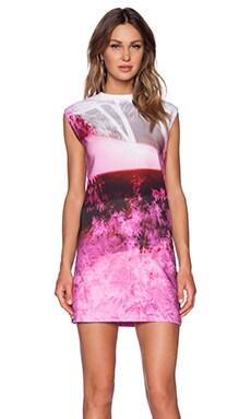 McQ Alexander McQueen Box Dress in Haze Pink Print