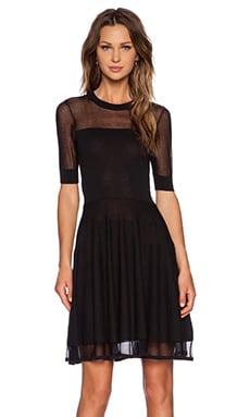 McQ Alexander McQueen Flirty Dress in Darkest Black