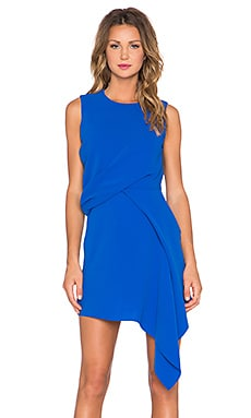 Handkerchief Drape Dress in Klein Blue