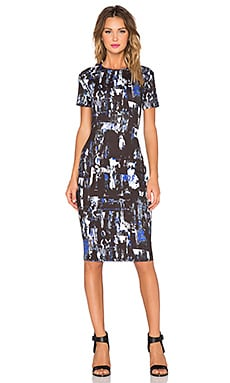 McQ Alexander McQueen Long Bodycon Dress in Richter
