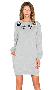 McQ Alexander McQueen Classic Sweat Dress in Grey Melange