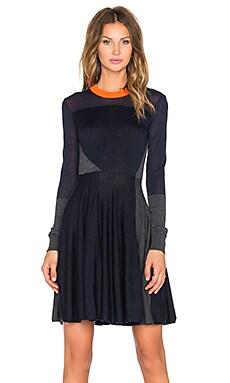 McQ Alexander McQueen Colorblock Dress in Charcoal & Navy & Reflector