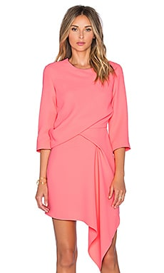 McQ Alexander McQueen Handkerchief Sleeve Dress in Bubblegum