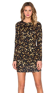 McQ Alexander McQueen Long Sleeve Mini Dress in Black