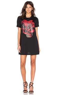 McQ Alexander McQueen Babydoll Dress in Darkest Black