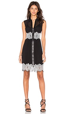McQ Alexander McQueen Collar Zip Dress in Black