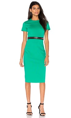 McQ Alexander McQueen Bodycon Zip Dress in Emerald