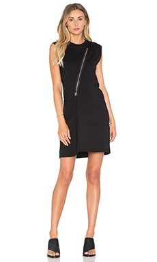 McQ Alexander McQueen Zip Tank Dress in Darkest Black
