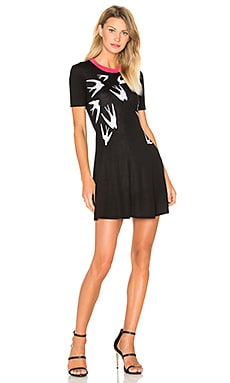 McQ Alexander McQueen Swallow Jacq Skater Dress in Black & White