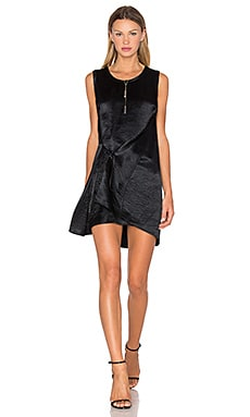McQ Alexander McQueen Knot Drape Dress in Black