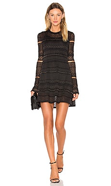 Lace Skater Dress in Darkest Black