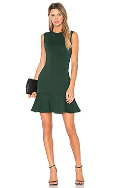 Peplum Tank Dress in Evergreen