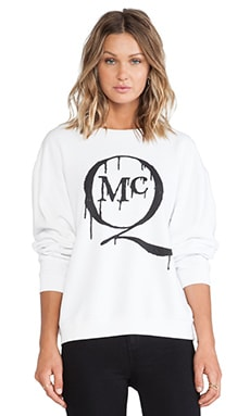 McQ Alexander McQueen McQ Logo Classic Sweater in Optic White