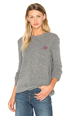 Swallow Crew Neck in Grey Melange