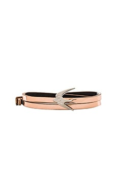 McQ Alexander McQueen Swallow Mini Wrap Bracelet in Rose Gold