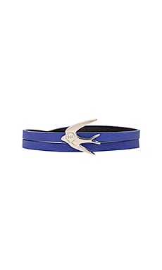 McQ Alexander McQueen Swallow Mini Wrap Bracelet in Cobalt