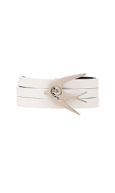 McQ Alexander McQueen Swallow Triple Wrap Bracelet in White