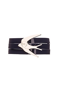 McQ Alexander McQueen Swallow Triple Wrap Bracelet in Navy
