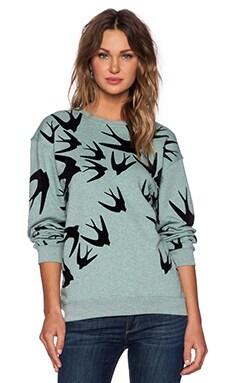 McQ Alexander McQueen Classic Sweatshirt in Mint Overdye