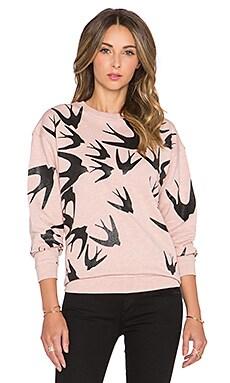 McQ Alexander McQueen Classic Sweatshirt in Blush Melange