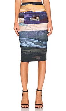 McQ Alexander McQueen Contour Skirt in Multi Landscape