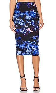 McQ Alexander McQueen Contour Skirt in Floral Print