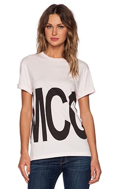 McQ Alexander McQueen Boyfriend Tee in Overdyed Pink