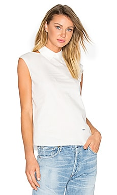 Cut Out Shoulder Tank in White