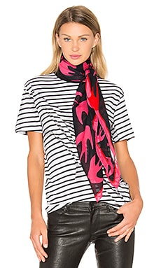 McQ Alexander McQueen Swallow Swarm Scarf in Shocking Pink