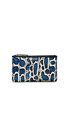McQ Alexander McQueen Kicks Clutch in Cobalt & White & Black