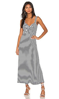 Knit Tie Front Dress MDS Stripes $130
