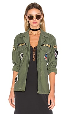 Madeworn John Lennon Army Jacket in Military Green