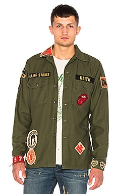 Rolling Stones Army Jacket in Military Green