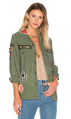 Madeworn Rolling Stones Army Jacket in Military Green