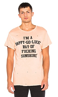 Madeworn I'm A Happy Go Lucky Tee in Washed Red