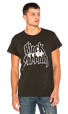 Madeworn Black Sabbath Tee in Dirty Black
