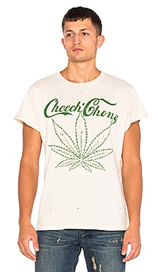 Madeworn Cheech & Chong Tee in Dirty White