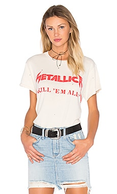 Madeworn Metallica Kill 'Em All Tee in Dirty White