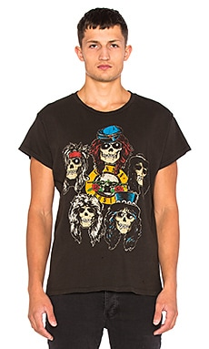 Madeworn Guns N Roses Tee in Dirty Black