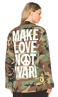 BLOUSON MAKE LOVE NOT WAR