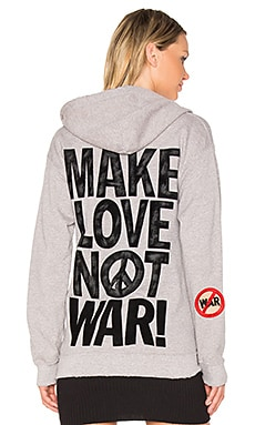 SWEAT À CAPUCHE MAKE LOVE NOT WAR